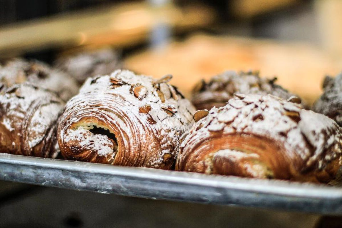 Sugar-dusted croissants at Common Bond