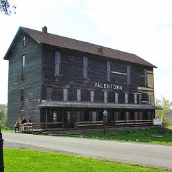 Mr. J. Sheldon Fisher founded the Valentown Museum in Victor, New York. A number of artifacts from the property where Brigham Young once lived have been placed in this museum.