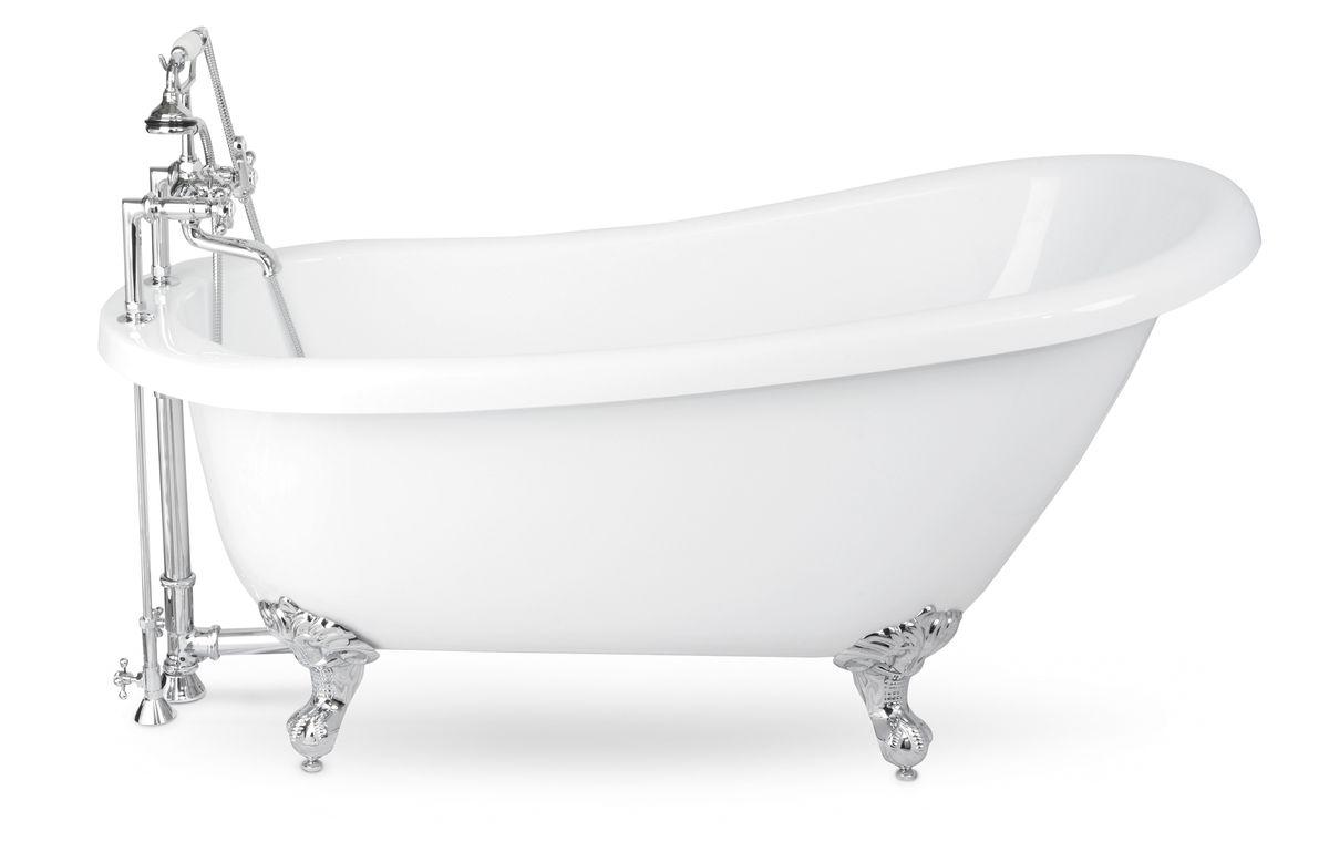 Acrylic Tub With Chrome Ball And Claw Feet