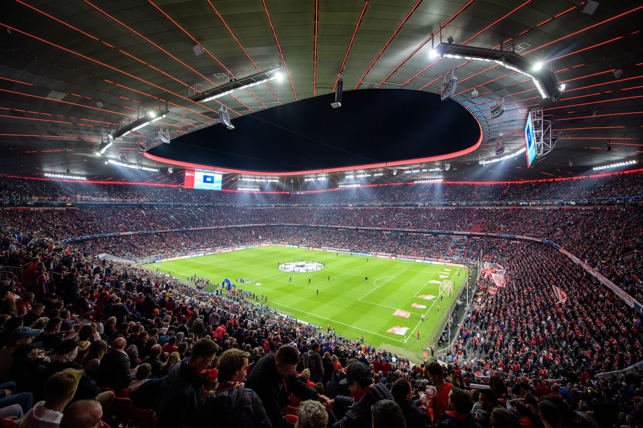 No grass news, but Bayern Munich?s new decorative LED lighting is on-point at the Allianz Arena