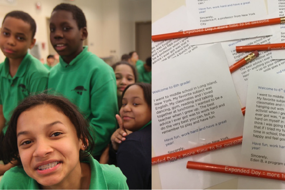 Hundreds of letters made their way to sixth graders last year.