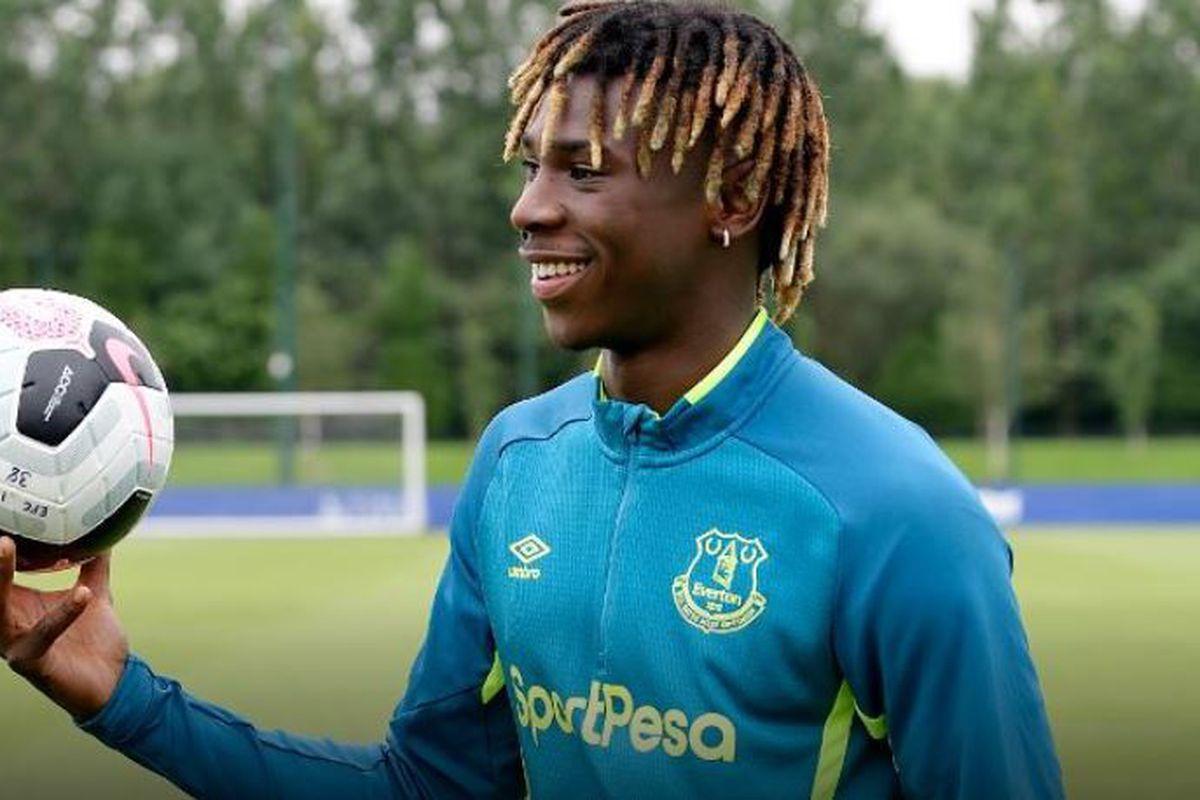 Moise Kean S Everton Shirt Number Revealed Royal Blue Mersey
