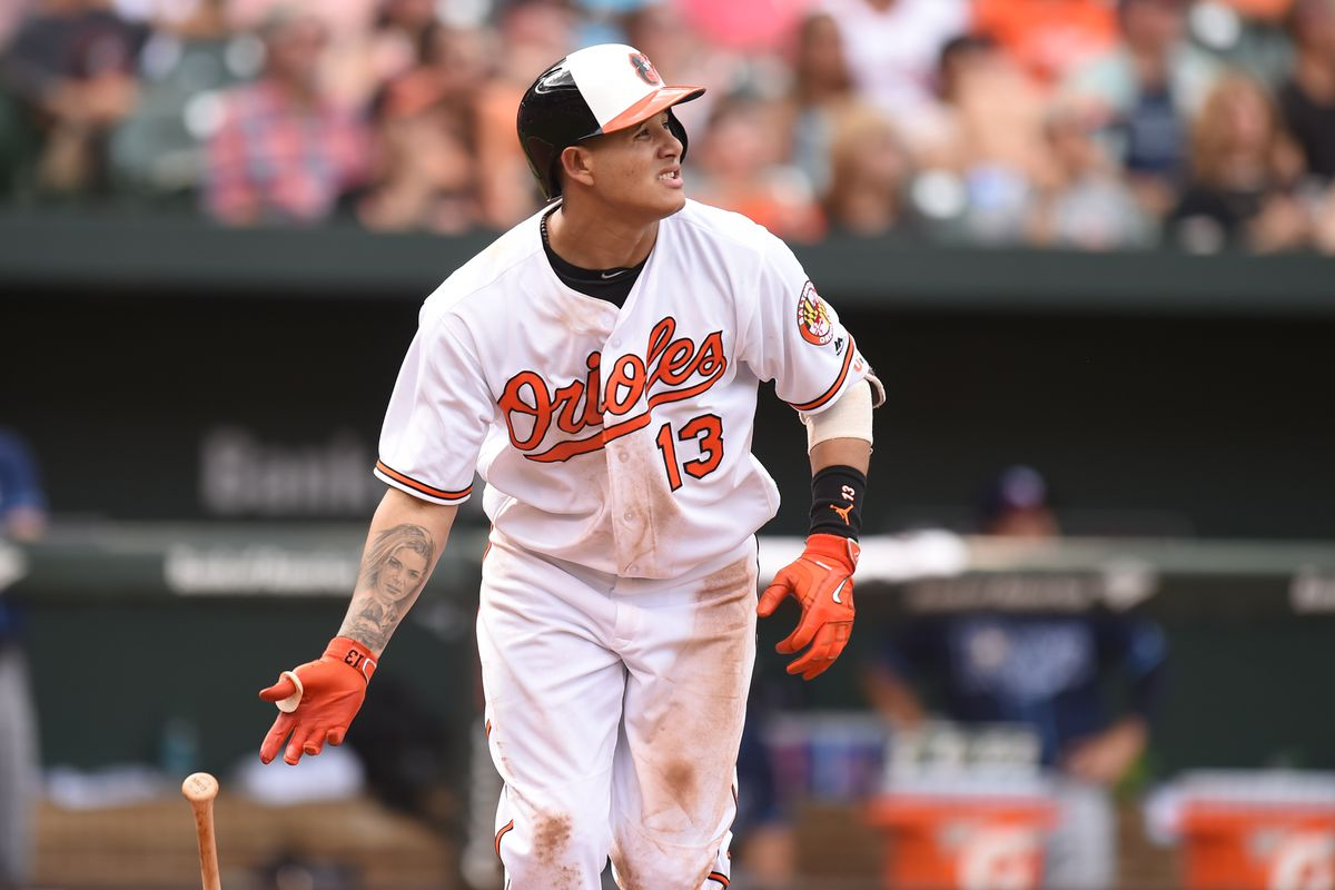 Manny Machado of the Baltimore Orioles hits another home run.