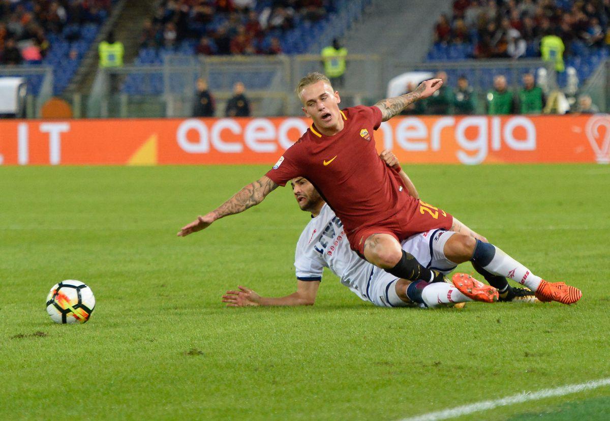 Rick Karsdorp during the Italian Serie A football match...