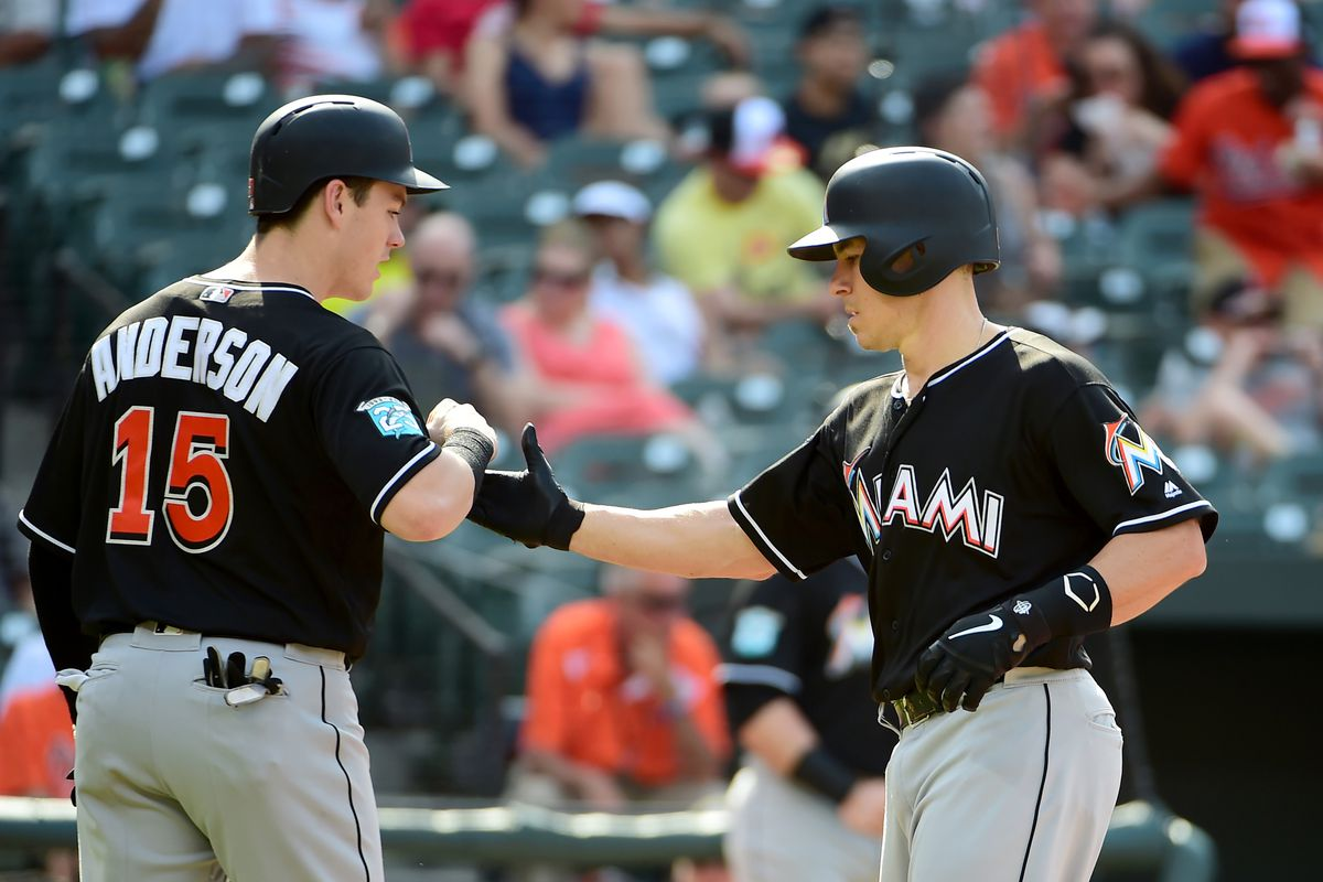 Helluva combination near the top of the Marlins lineup. Evan Habeeb-USA  TODAY Sports 8b7625347