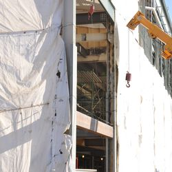 A peek into the third-base line concourse -