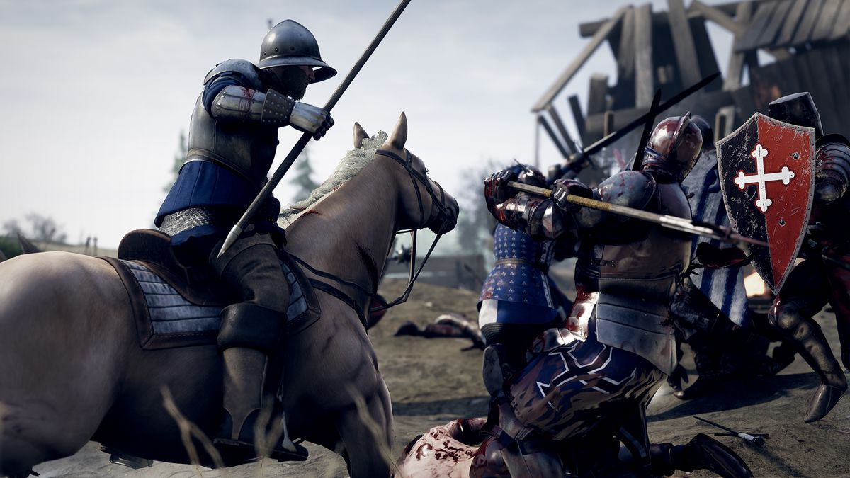 Mounted combat is a difficult task in Mordhau, requiring a nearly completely different set of skills from ground combat.
