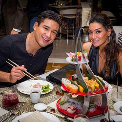 Mario Lopez and Courtney Mazzo Lopez at Andrea's. Photo: Erik Kabik/Retna