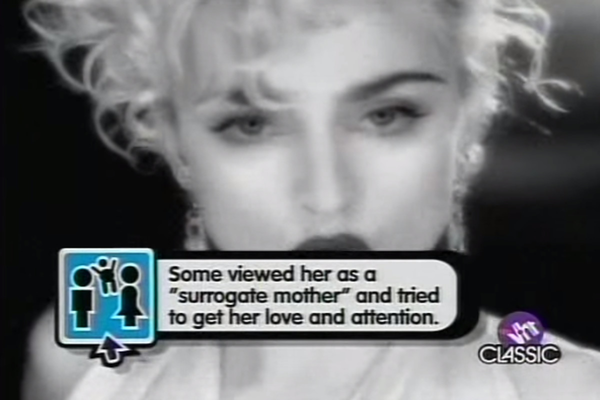 """The pop up video for Madonna's """"Vogue"""""""