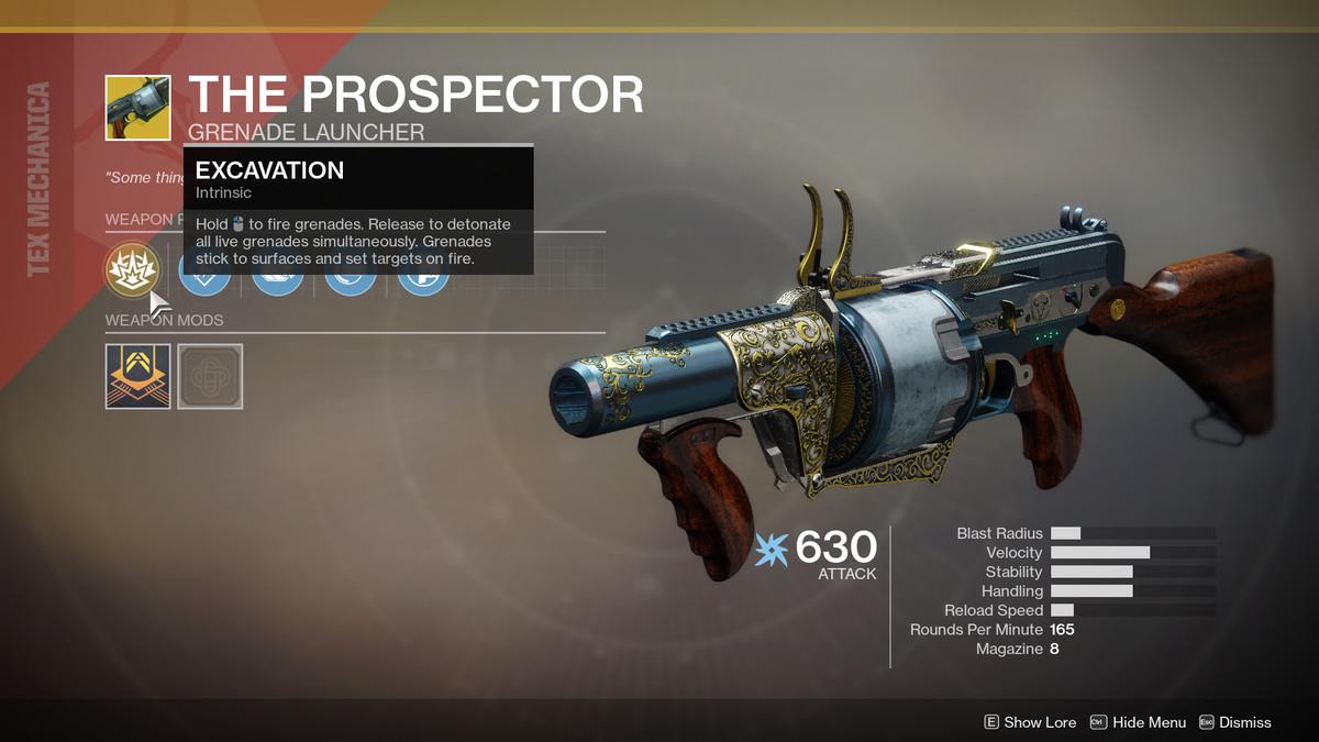 The Prospector Exotic Destiny 2