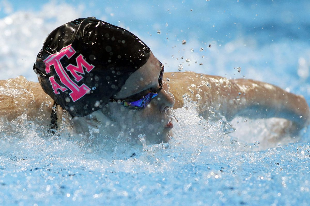 Jun 28, 2012; Omaha, NE, USA; Cammile Adams competes in the preliminaries of the womens 200m butterfly in the 2012 U.S. Olympic swimming team trials at the CenturyLink Center. Mandatory Credit: Matt Ryerson-US PRESSWIRE