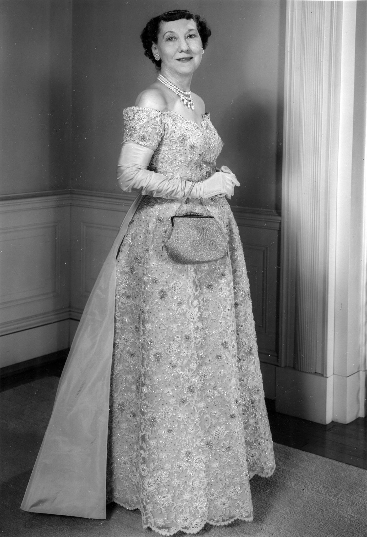 Mamie Eisenhower's inaugural ballgown