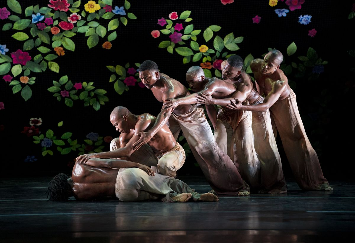 "Alvin Ailey American Dance Theater in Jamar Roberts' ""Ode."""