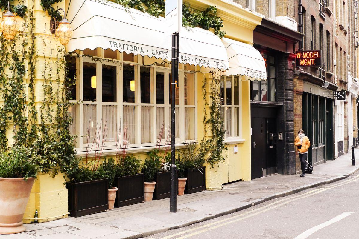 Gloria Italian restaurant from Big Mamma in Shoreditch: The exterior in Shoreditch, east London