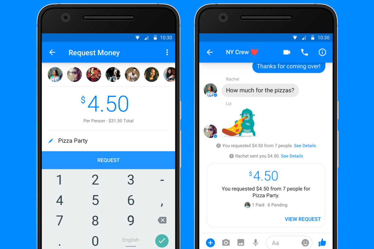 Facebook Messenger now supports group payments between