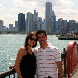 Amy and Pat Tomasulo at Navy Pier in Chicago. | Provided Photo