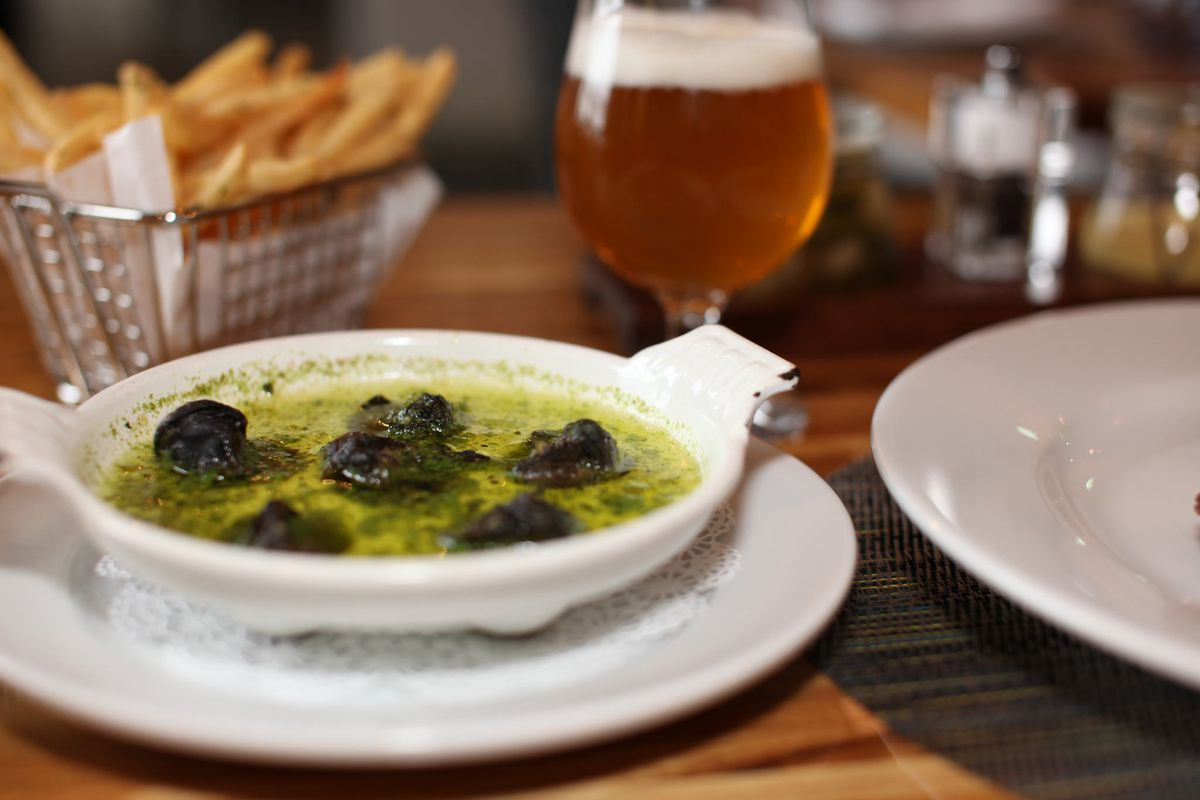 Escargots de Bourgogne at Andre's Bistro & Bar