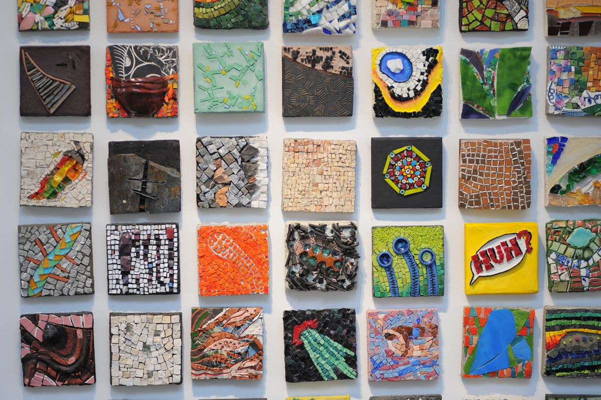 Some of the work showcased at the Chicago Mosaic School.