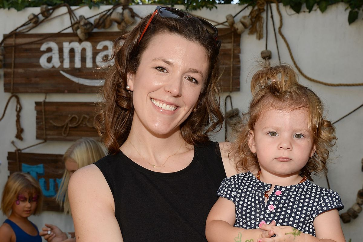 Senior public relations manager for Video and Studios at Amazon.com Cat Kelty and her daughter in Los Angeles.