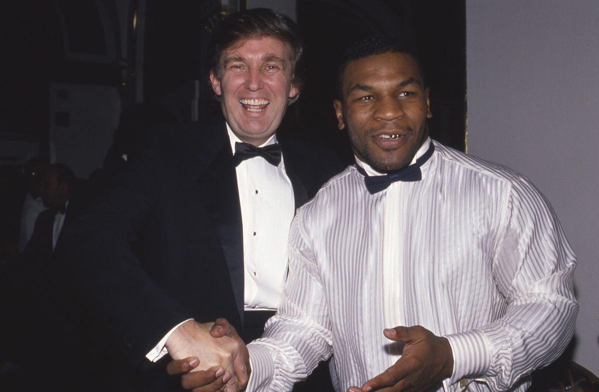 Trump with Mike Tyson in 1989 (GettyImages)