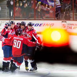 Celebrating A Late Ovechkin Goal