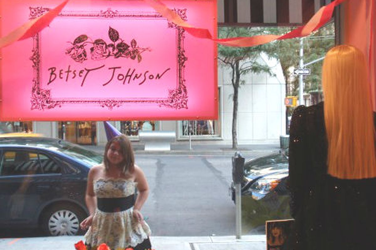 """The Madison Avenue store via <a href=""""http://www.womanaroundtown.com/sections/shopping-around/happy-birthday-betsey-xoxoxox-love-your-fans"""">Woman Around Town</a>"""