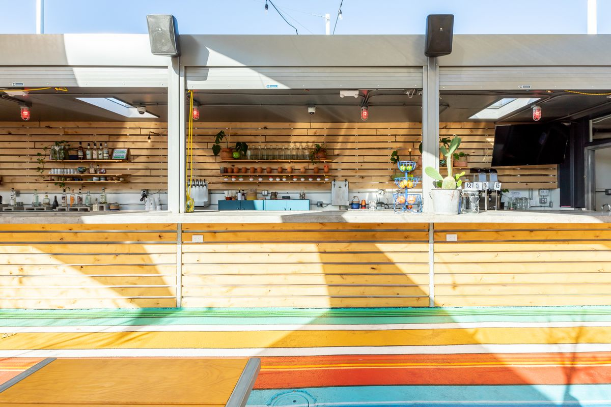 The bar area at Nido's Backyard
