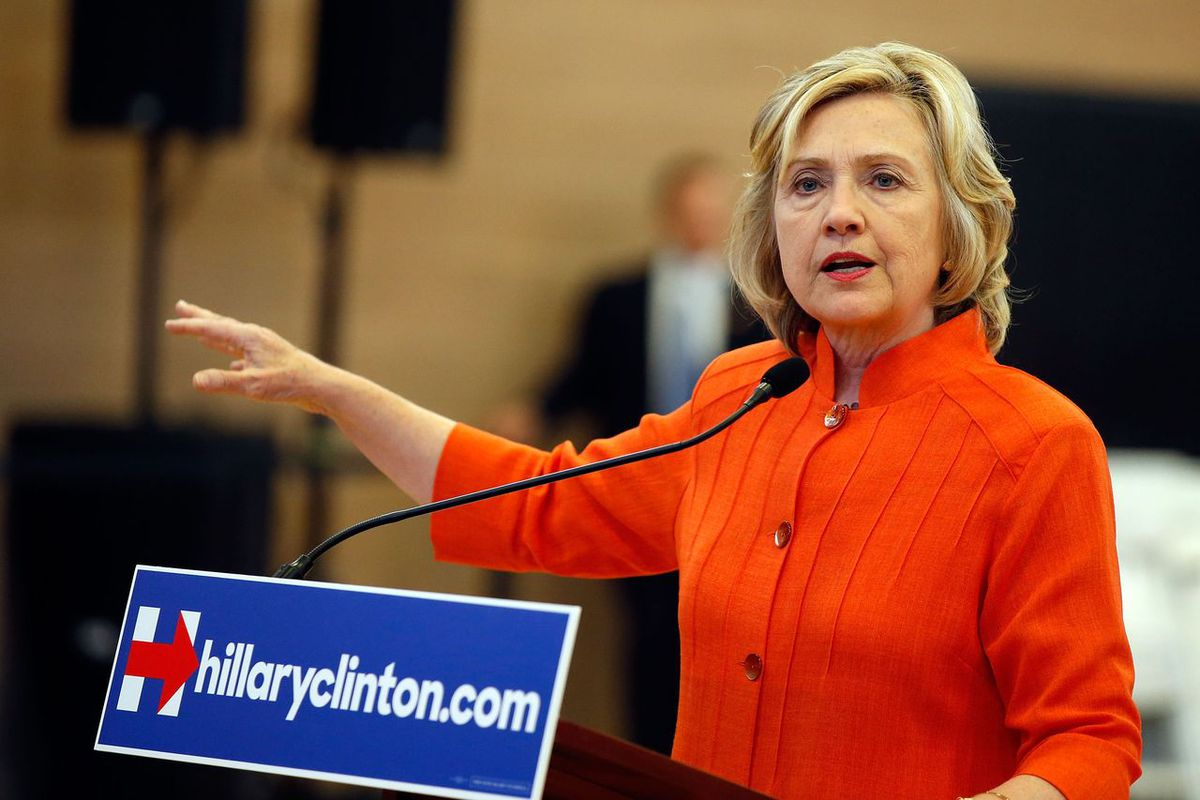 Hillary Clinton in Nevada in August. The strange system behind Iowa's Democratic caucus may lead Clinton to ask some supporters to vote for Martin O'Malley.