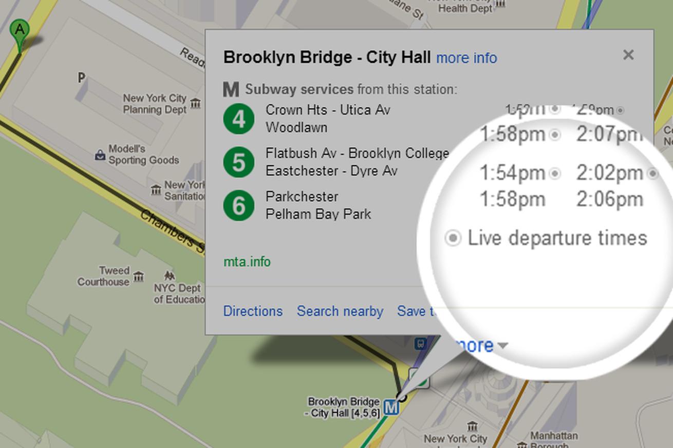 Google Brings Realtime NYC Subway Schedule Data To Google Maps - Nyc subway map on google