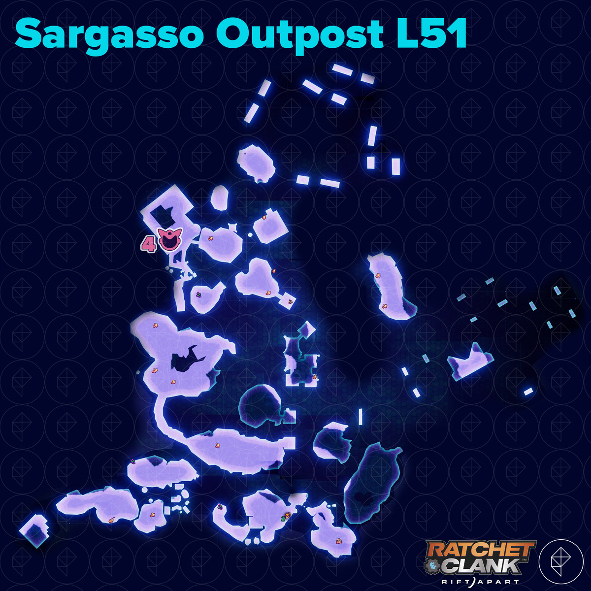 Ratchet & Clank: Rift Apart collectibles guide: Sargasso Outpost L51
