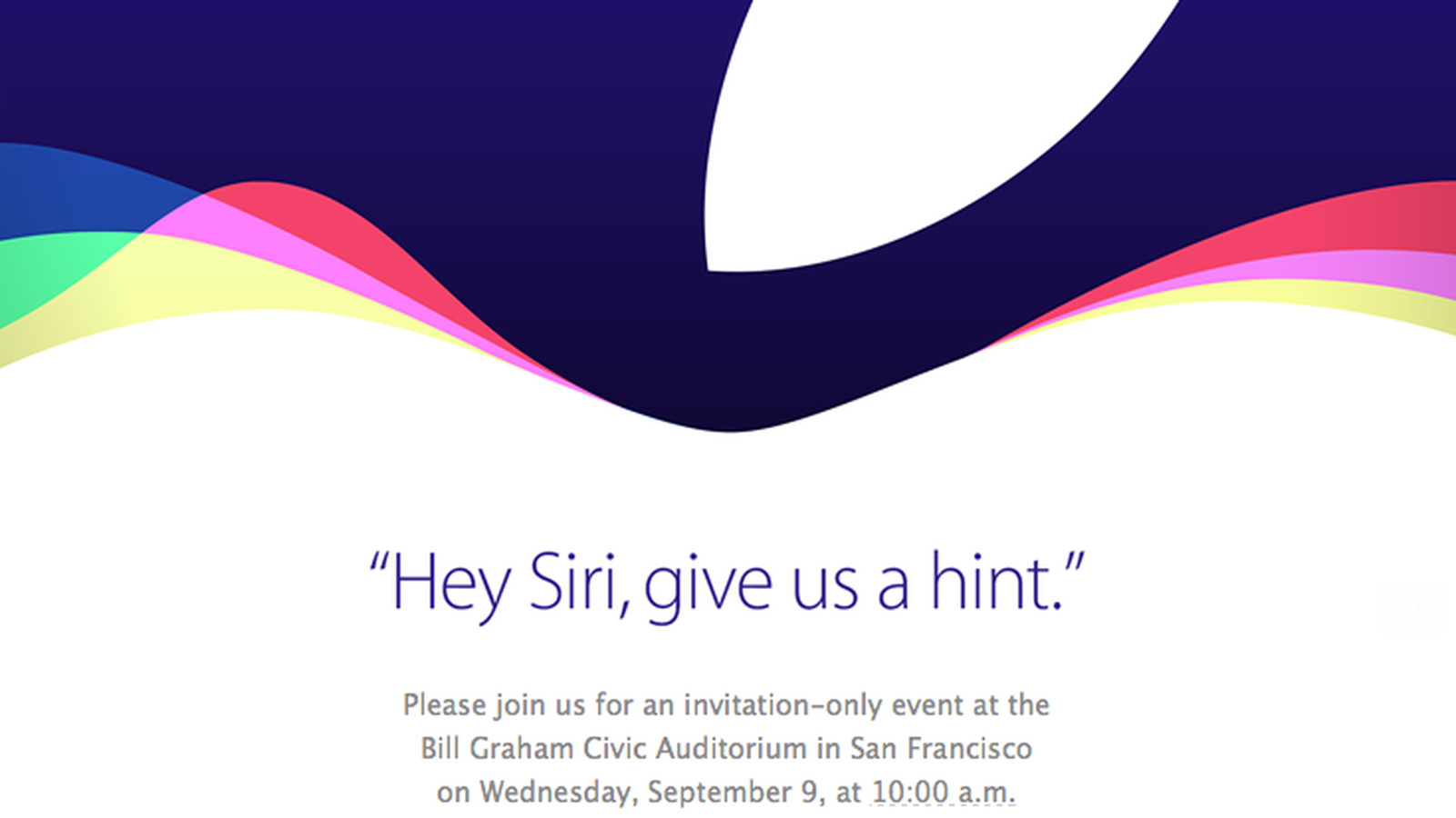 Apple Iphone Event Announced For Wednesday September 9 The Verge