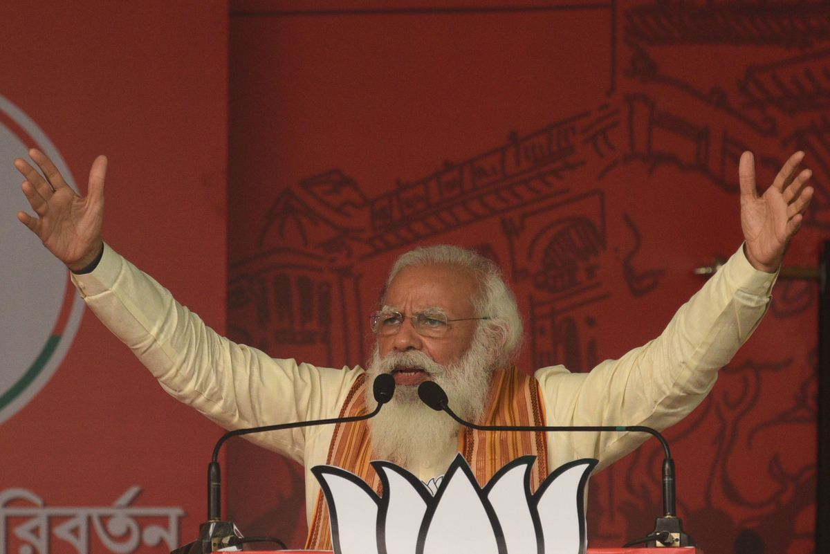 Prime Minister Narendra Modi Addresses Campaign Rally For West Bengal Assembly Election At Barasat