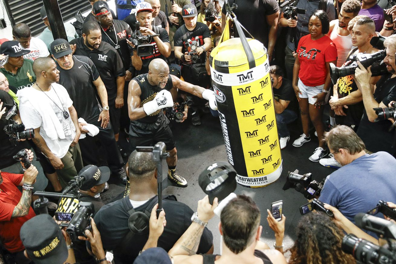 Floyd Mayweather full media workout