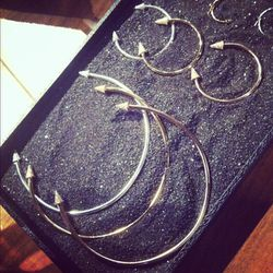 Luv AJ's collection with stylist Alexandra Spencer of 4th and Bleeker was inspired by septum piercings -- clever