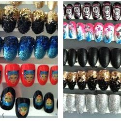 """CND's custom """"Biker Nails"""" at the Blonds, created by CND's Kristina Estabrooks and her team. Photo: CND."""