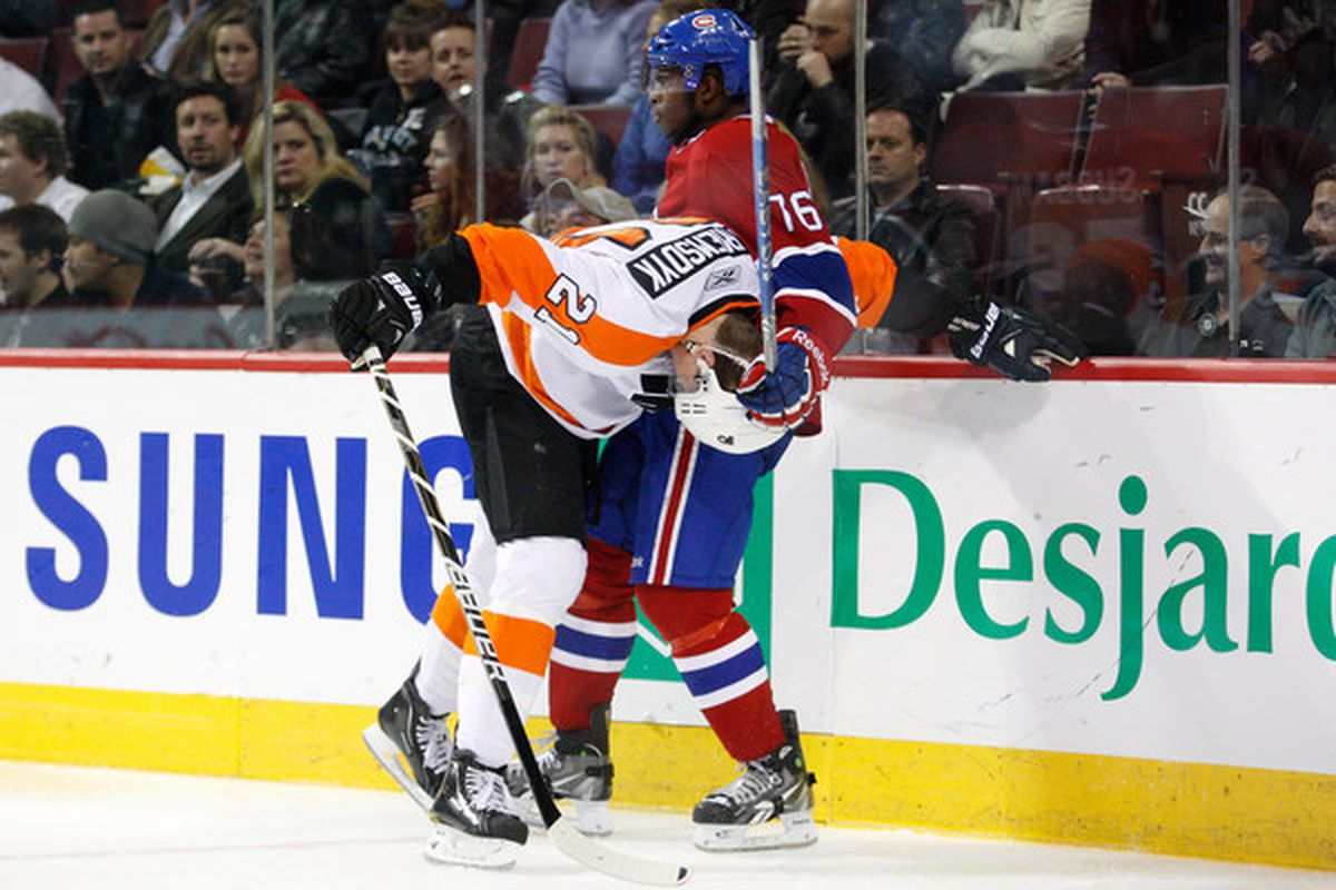 Oh, look what we have here. A P.K. Subban mugging behind the play. How surprising.
