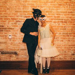 Spooky-chic swans, courtesy of Racked LA's associate editor Danielle Directo-Meston and her husband.