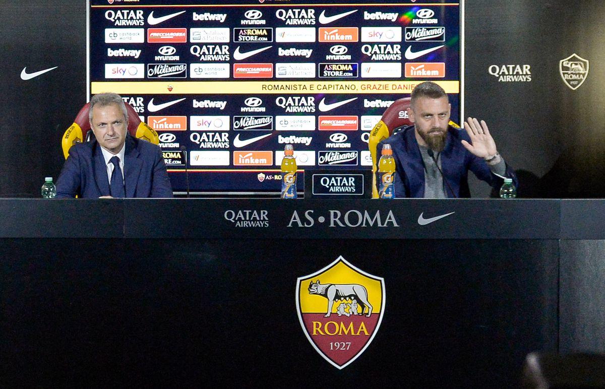 AS Roma Player Daniele De Rossi Press Conferece