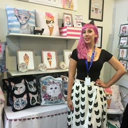 Scarlett of Darling Lola looked purr-fect in her booth.