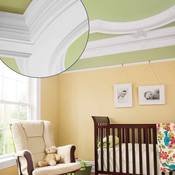 Coffered Ceiling Baby Nursery