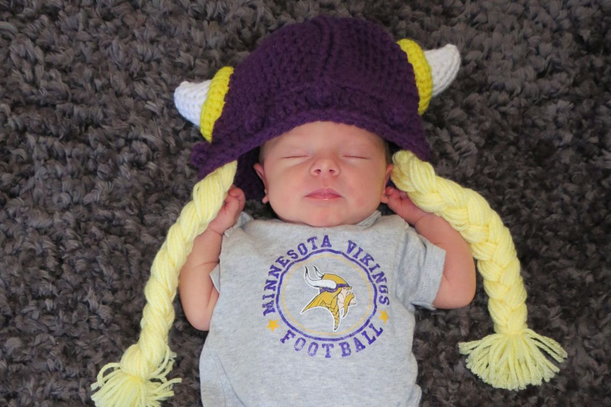 Yes, we're using little Gemma's picture for Father's Day because. . .well, jeez, why wouldn't we? Just look at that little purple and gold bundle of joy.