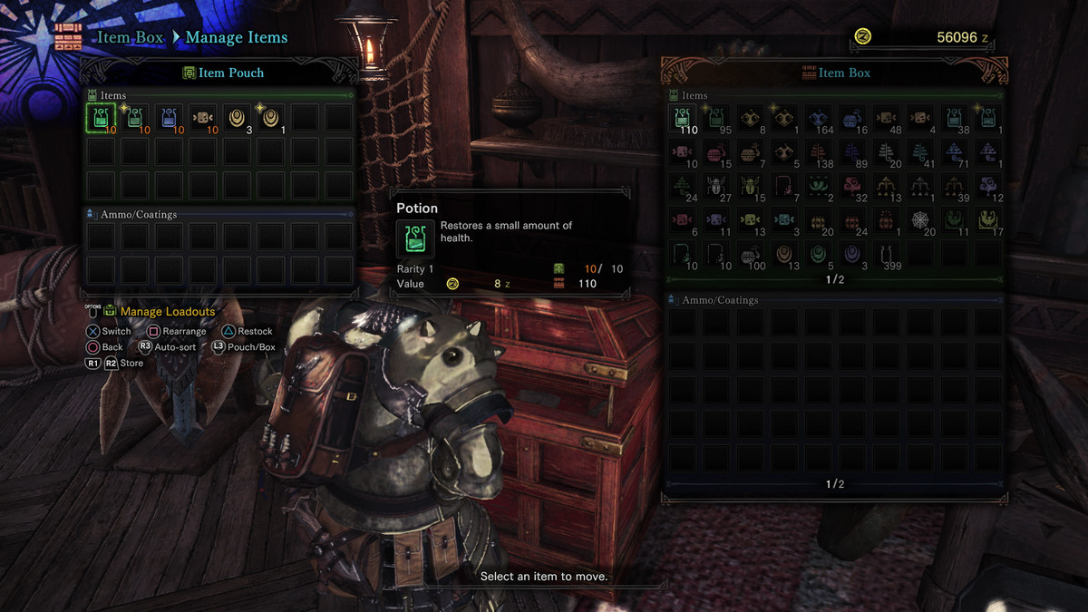 Monster Hunter: World guide: Item management, item pouch and item