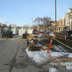 Fri 1/1: construction material, north of media building -