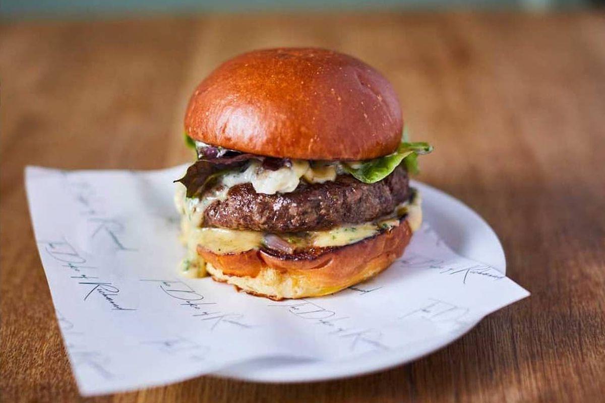 The Duke Burger at The Duke of Richmond in Dalston, London