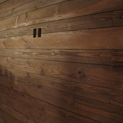 Wood detailing in the private room.