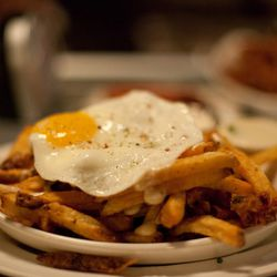 Who can resist crispy fries with a farm-fresh egg?