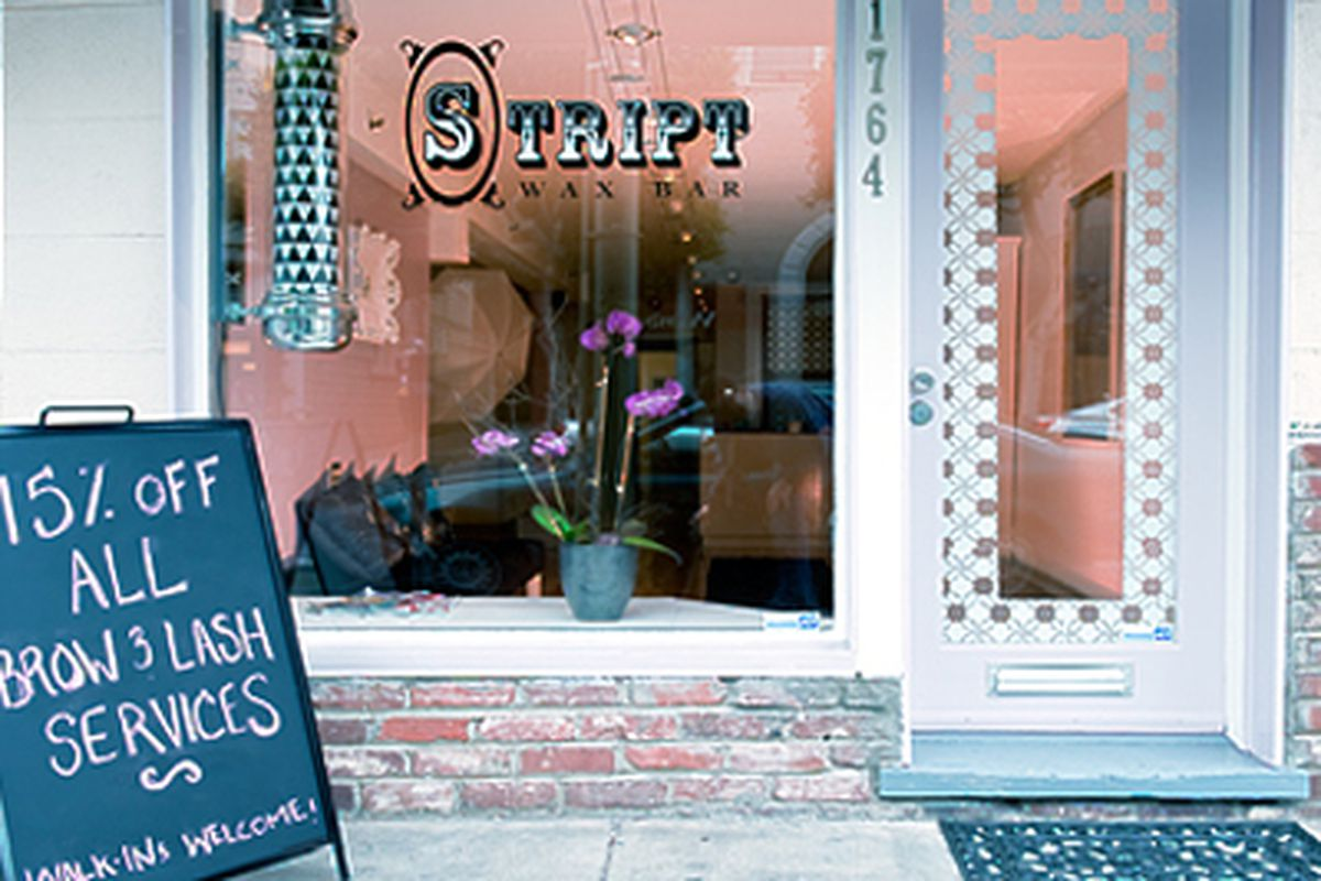 """Stript Wax Bar locations in Noe Valley and Pacifica join the chain's Cow Hollow location (pictured). Image via <a href=""""http://www.striptwaxbar.com""""><strong>Stript Wax Bar</strong></a>."""