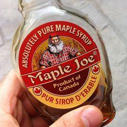 Maple Joe syrup, a product of Canada, taken by Darren Barefoot via Instagram.