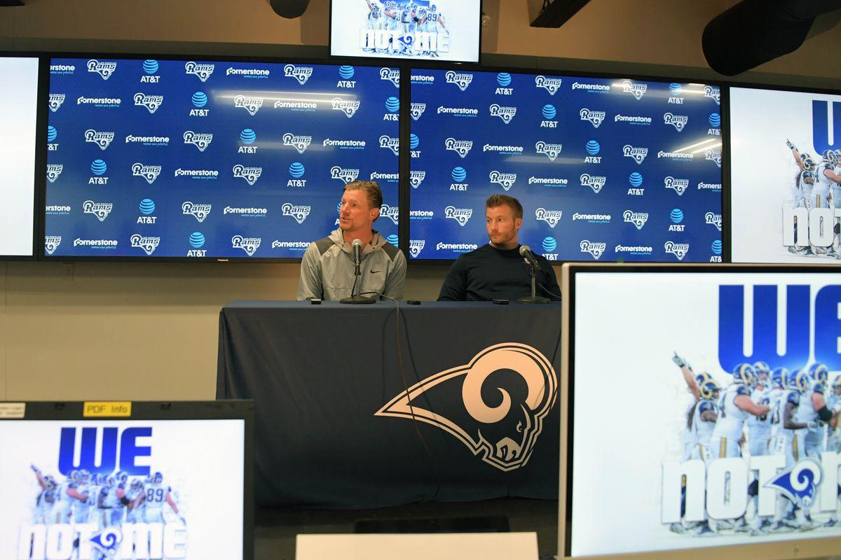 Los Angeles Rams GM Les Snead and HC Sean McVay