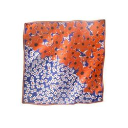 "<a href=""http://www.target.com/p/vera-for-target-trellis-flower-square-scarf-blue-orange/-/A-14395651#?lnk=sc_qi_detaillink"">Vera For Target Trellis Flower Square Scarf </a>, $19.99 at Target"